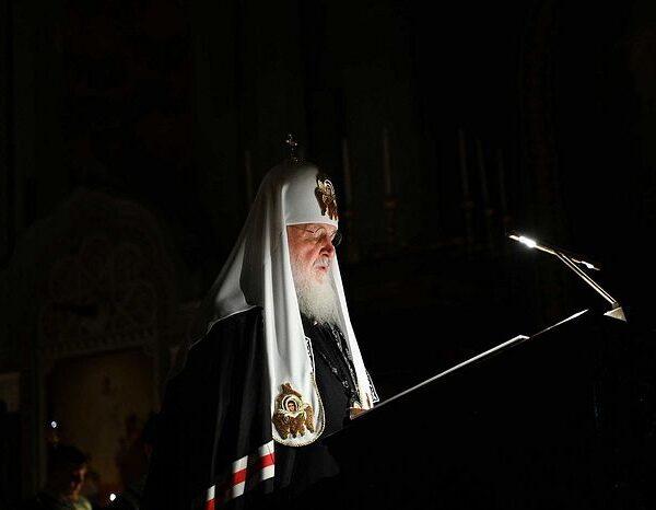 Святейший Патриарх Кирилл совершил богослужение в Храме Христа Спасителя